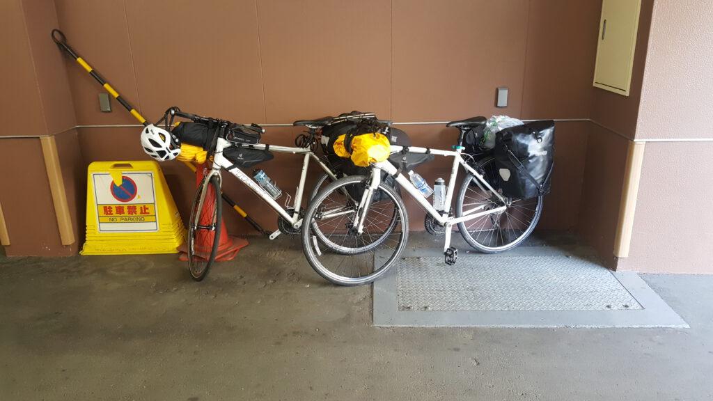 Prepared bikes at Hotel