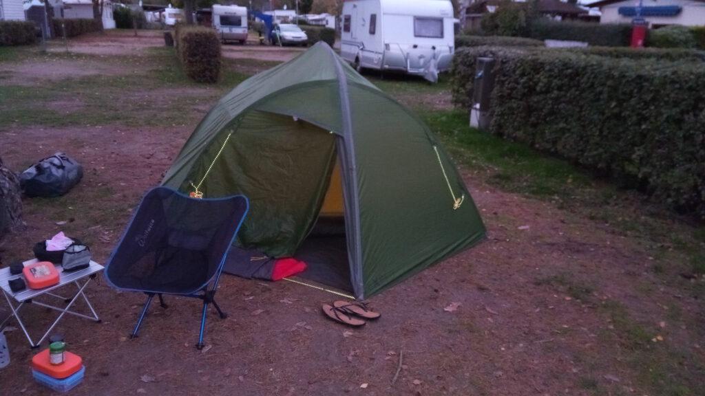 Tent at Mainflingen Seecamping